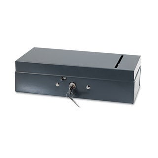 SteelMaster Steel Bond Box with Check Slot Disc Lock Grey