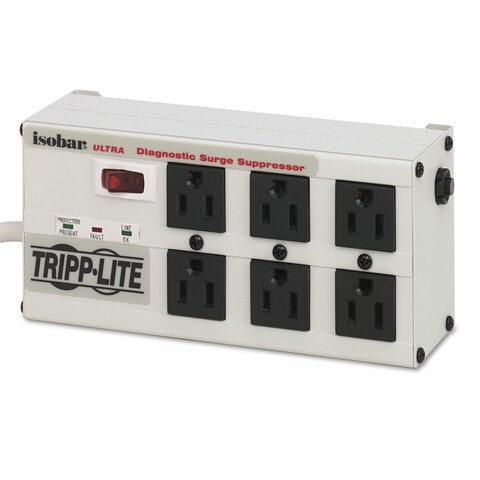 Tripp Lite ISOBAR6ULTRA Isobar Surge Suppressor Metal 6 Outlets 6-feet Cord 3330 Joules