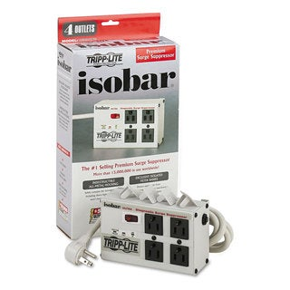 Tripp Lite ISOBAR4ULetterA Isobar Surge Suppressor 4 Outlets 6 ft Cord 3330 Joules