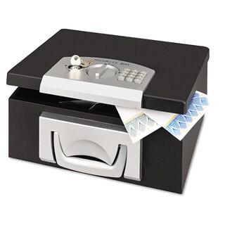 SteelMaster Electronic Cash Box 12-7/8 x 11-1/8 x 6-1/4 Combination Lock Black