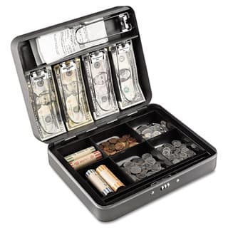 SteelMaster Cash Box with Combination Lock Charcoal|https://ak1.ostkcdn.com/images/products/14009118/P20630919.jpg?impolicy=medium
