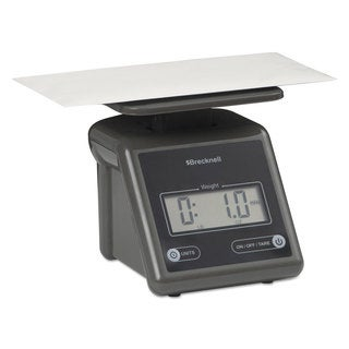 Brecknell Electronic Postal Scale 7-pound Capacity 5 1/2 x 5 1/5 Platform Grey