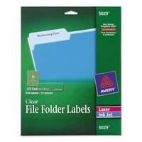 Avery Clear File Folder Labels 1/3 Cut 2/3 x 3 7/16 450/Pack