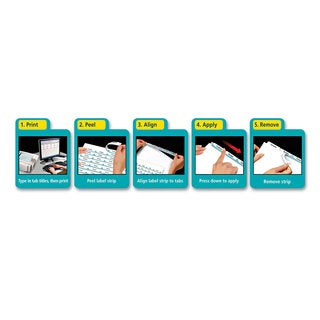 Avery Print & Apply Clear Label Dividers with White Tabs 5-Tab Letter 5 Sets