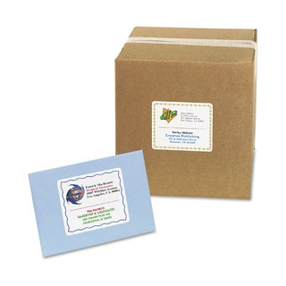 Avery Color Printing Mailing Labels 3 1/3 x 4 Matte White 120/Pack