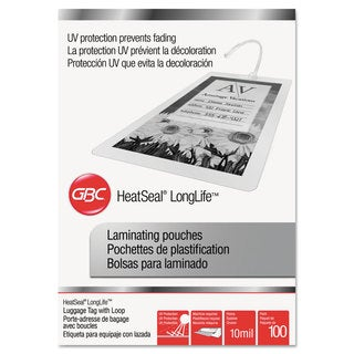 Swingline GBC LongLife Thermal Laminating Pouches 10 mil 2 1/2 x 4 1/4 100/Box
