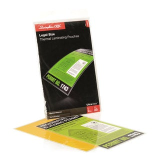 Swingline GBC UltraClear Thermal Laminating Pouches 3 mil 9 x 14 1/2 25/Pack