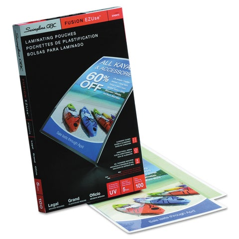 Swingline GBC EZUse Thermal Laminating Pouches 5 mil 9 x 14 1/2 100/Box