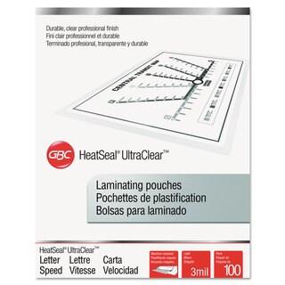Swingline GBC ULetteraClear Thermal Laminating Pouches 3 mil 9 x 11 1/2 100/Box