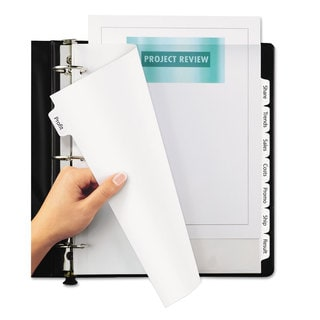 Avery Print and Apply Clear Label Dividers with White Tabs 8-Tab 11 1/4 x 9 1/4 5 Sets