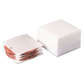 Dixie Dry Wax Laminated Patty Paper With Hole White 5 x 5