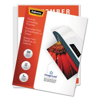 Fellowes ImageLast Laminating Pouches with UV Protection 5mil 11 1/2 x 9 100/Pack