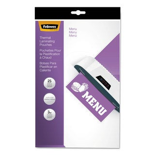 Fellowes Laminating Pouches 3mil 12 x 18 25/Pack