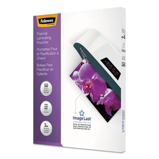 Fellowes ImageLast Laminating Pouches with UV Protection 3mil 11 1/2 x 9 50/Pack