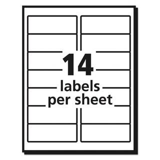 Avery Easy Peel Inkjet Address Labels 1 1/3 x 4 White 1400/Box