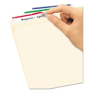 Avery Removable File Folder Labels Inkjet/Laser 2/3 x 3 7/16 White/Assorted 750/Pack