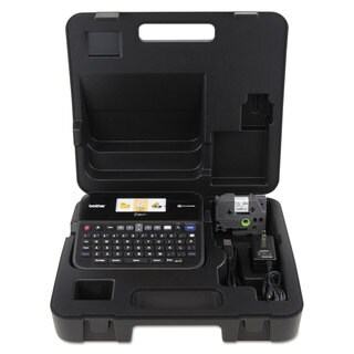 Brother P-Touch PT-D600VP PC-Connectable Label Maker with Color Display and Carry Case Black