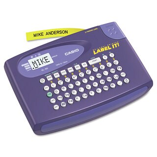 Casio KL-60L Label Maker 2 Lines 6-5/8-inch wide x 4-1/2-inch deep x 1-1/16h