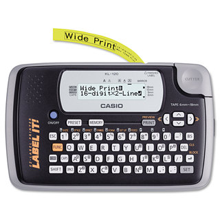 Casio KL-120 Label Maker 1 Lines 7-1/2-inch wide x 4-1/2-inch deep x 2-1/5h