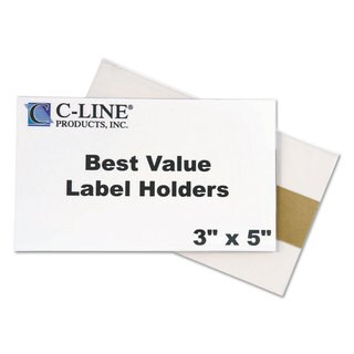 C-Line Self-Adhesive Label Holders Top Load 3 x 5 Clear 50/Pack