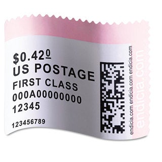 DYMO LabelWriter Postage Stamp Labels 1-5/8 x 1-1/4 White 200/RL