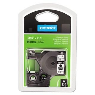DYMO D1 Flexible Nylon Label Maker Tape 3/4in x 12ft Black on White
