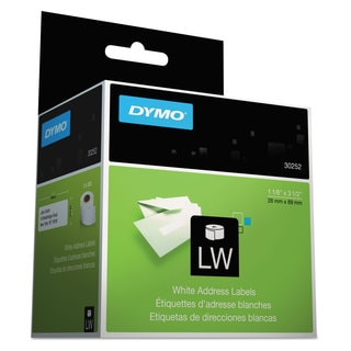 DYMO LabelWriter Address Labels 1 1/8 x 3 1/2 White 350 Labels/Roll 2 Rolls/Pack