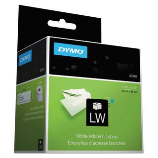 DYMO LabelWriter Address Labels 1 1/8 x 3 1/2 White 260 Labels/Roll 2 Rolls/Pack