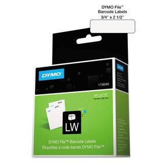 DYMO LabelWriter Bar Code Labels 3/4 x 2 1/2 White 450 Labels/Roll