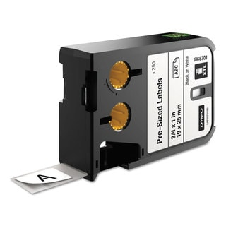 DYMO XTL Pre-Sized Labels 3/4-inch x 1-inch White/Black Print 250/Cartridge