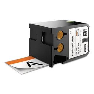 DYMO XTL Pre-Sized Labels 2 inches x 4 inches White/Orange Header/Black Print 70/Cartridge