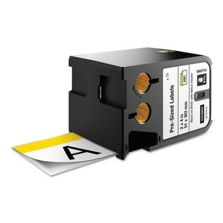 DYMO XTL Pre-Sized Labels 2-inch long x 4-inch wide White/Yellow Header/Black Print 70/Cartridge