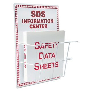 LabelMaster SDS Information Center 15 x 20 White/Red