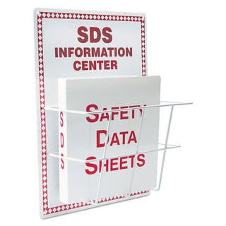 LabelMaster SDS Information Center 15 x 20 White/Red (Option: Red)|https://ak1.ostkcdn.com/images/products/14009495/P20631252.jpg?impolicy=medium