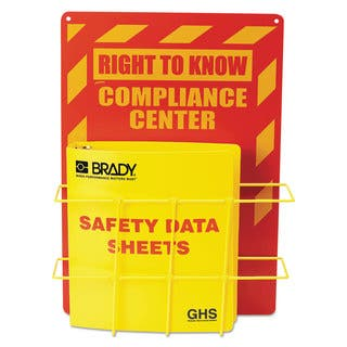 LabelMaster SDS Compliance Center 14 x 20 Yellow with Red|https://ak1.ostkcdn.com/images/products/14009497/P20631253.jpg?impolicy=medium