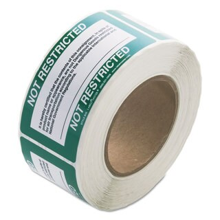 LabelMaster Shipping and Handling Self-Adhesive Label 5 x 2 1/4 NOT RESTRICTED 500/Roll