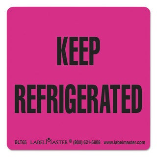 LabelMaster Warehouse Self-Adhesive Label 3 x 3 KEEP REFRIGERATED 500/Roll