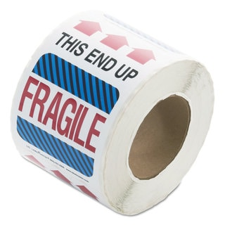 LabelMaster Shipping and Handling Self-Adhesive Label 4 x 6 THIS END UP FRAGILE 500/Roll