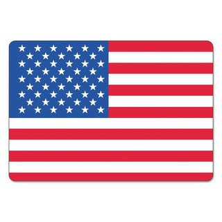 LabelMaster Warehouse Self-Adhesive Label 4 x 2 1/2 USA FLAG 100/Pack
