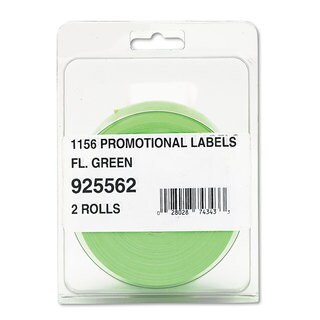 Monarch Pricemarker 1156 One-Line Labels 3/4 x 1-1/4 Fluorescent Green 2 Rolls/Pack