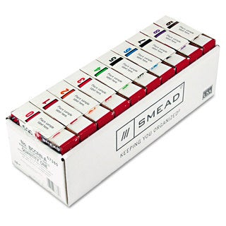 Smead Single Digit End Tab Labels Color 0-9 Assortment 500/Roll 5000 Labels/Box