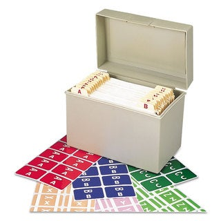 Smead Alpha-Z Color-Coded Second Letter Labels Starter Set A-Z 2200/Box