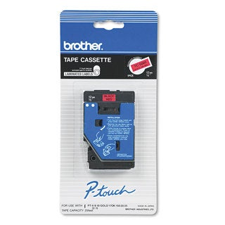 Brother P-Touch TC Tape Cartridge for P-Touch Labelers 1/2w Black on Red