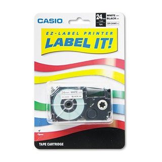 Casio Tape Cassette for KL8000/KL8100/KL8200 Label Makers 24mm x 26ft Black on White