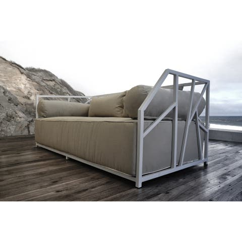SOLIS Nidum Indoor Outdoor White Powder Sofa Daybed