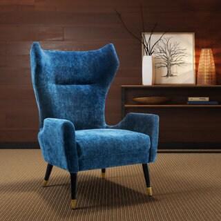 Logan Navy Blue Velvet Chair
