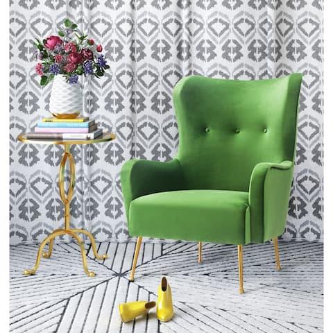 Ethan Green Velvet Accent Chair