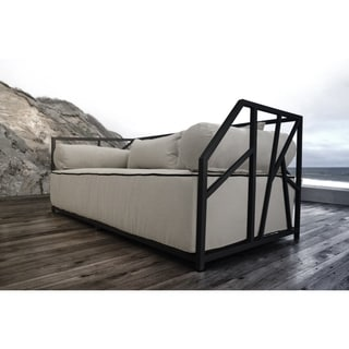 SOLIS Nidum Indoor Outdoor Deep Seated Black Powder Coated Steel Sofa Daybed