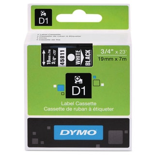 DYMO D1 High-Performance Polyester Removable Label Tape 3/4-inch x 23 ft White on Black