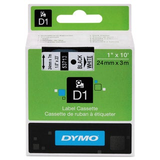 DYMO D1 High-Performance Polyester Removable Label Tape 1-inch x 23 ft Black on White
